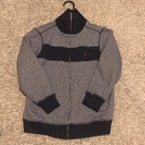 Nautica Boys Sweater Jacket Full Zip Size 8